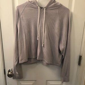 purple H&M hoodie